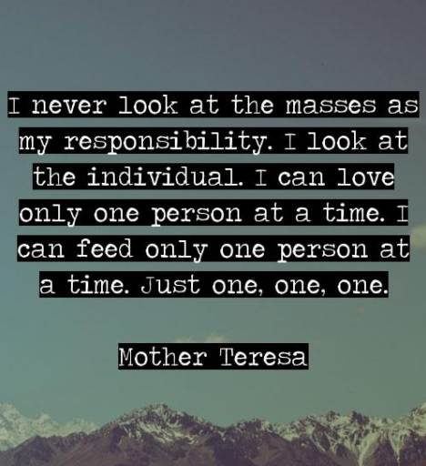mother teresa quote saying