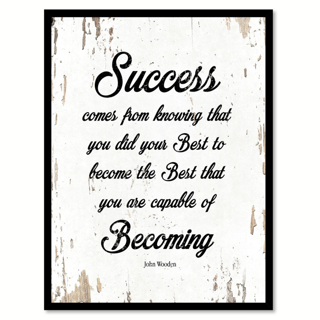 John Wooden Quote On Success