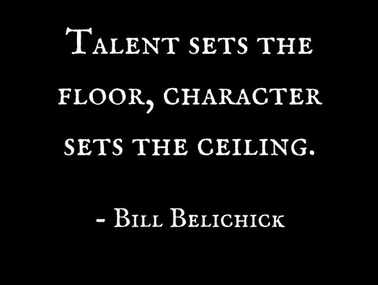bill belichick quotes talent